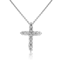 ROBERTO COIN Diamond Cross Necklace