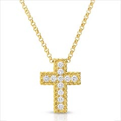 ROBERTO COIN Diamond Cross Pendant