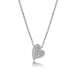ROBERTO COIN Pave Diamond Heart Pendant