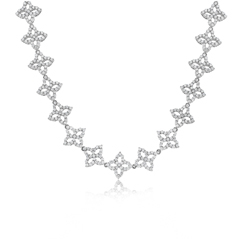 ROBERTO COIN Princess Diamond Flower Necklace
