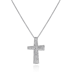 ROBERTO COIN Scalare Diamond Cross Pendant