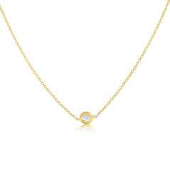 ROBERTO COIN Solitare Diamond Necklace