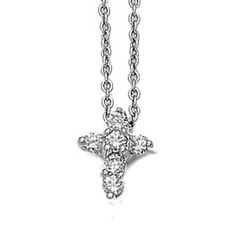ROBERTO COIN Tiny Treasures Diamond Cross Pendant