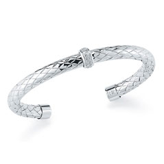 ROBERTO COIN Treccia Incarata Diamond Bangle