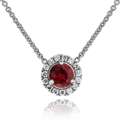 Ruby & Diamond Margarita Necklace