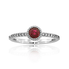 Ruby and Diamond Stack Ring