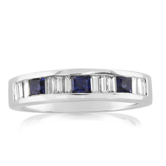 Sapphire & Diamond Channel Band