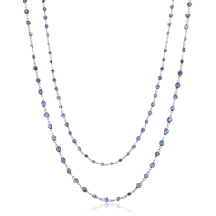 Sapphire Eyeglass Chain Necklace