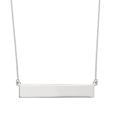 Silver Bar Nameplate Necklace