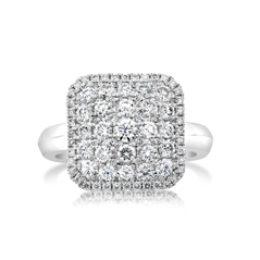 Square Diamond Fashion Ring