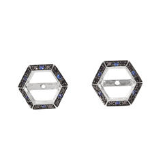 STEPHEN WEBSTER Deco Sapphire & Black Diamond Earring Jackets