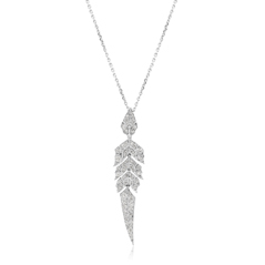 STEPHEN WEBSTER Magnipheasant Diamond Feather Pendant