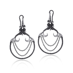 STEPHEN WEBSTER STERLING Jewels Verne Lobster Chain Earrings