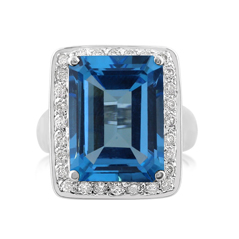 Topaz & Diamond Fashion Ring