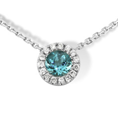 Topaz & Diamond Necklace