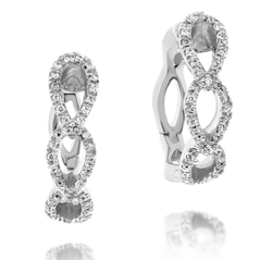 Twist Diamond Hoop Earrings