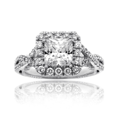 VERRAGIO Twisted Diamond Engagement Ring