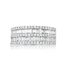 Wide Diamond Band