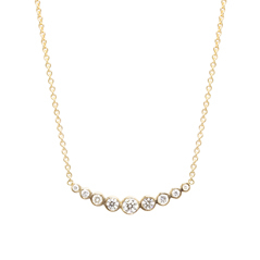 ZOE CHICCO Curved Diamond Bar Necklace