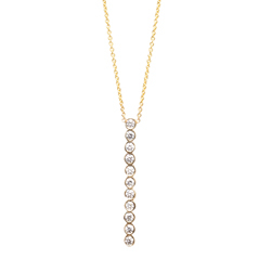ZOE CHICCO Diamond Bar Pendant