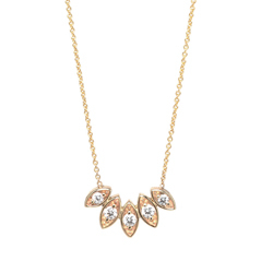 ZOE CHICCO Diamond Fan Necklace