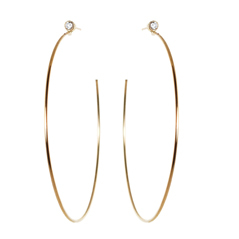 ZOE CHICCO Diamond Hoop Earrings