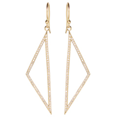 ZOE CHICCO Diamond Triangle Earrings