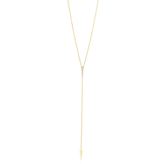 ZOE CHICCO Diamond Triangle Lariat Necklace