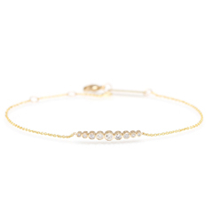 ZOE CHICCO Graduated Diamond Bracelet