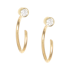 ZOE CHICCO Reversible Open Hoop Earrings