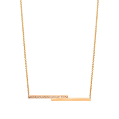 ZOE CHICCO Staggered Bar Diamond Necklace