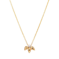 ZOE CHICCO Tiny Bullet Cluster Diamond Necklace
