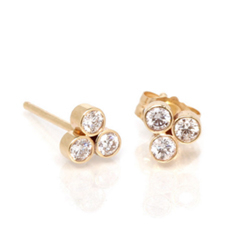 ZOE CHICCO Trio Diamond Stud Earrings