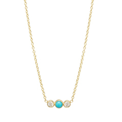 ZOE CHICCO Turquoise & Diamond Necklace