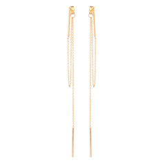 ZOE CHICCO Vertical Bar Earrings