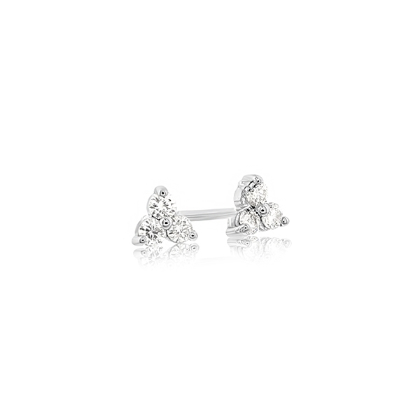 Diamond Cluster Stud Earrings photo