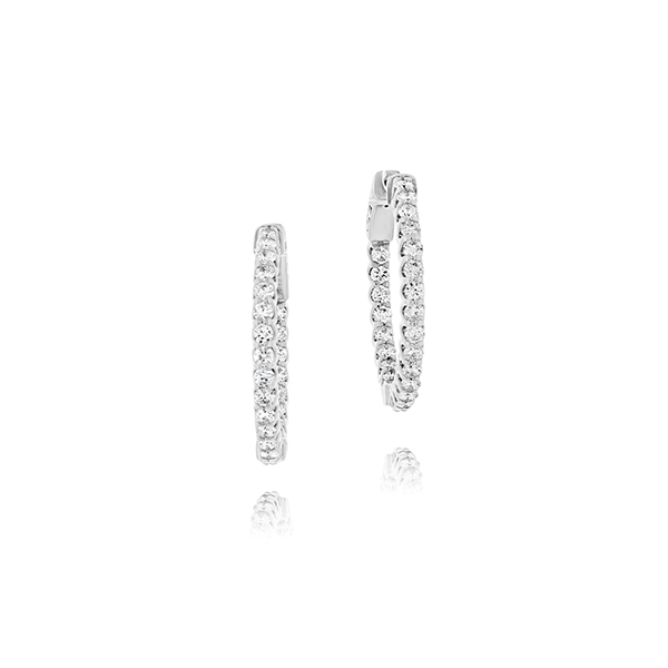 1 1/2 Carat Inside Out Diamond Hoops photo