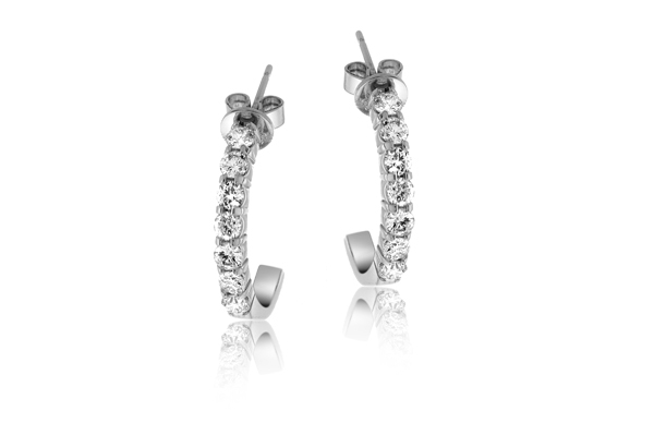 1 Carat Diamond Hoop Earrings photo