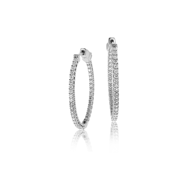 1.08 Carat Diamond Inside Out Hoops photo