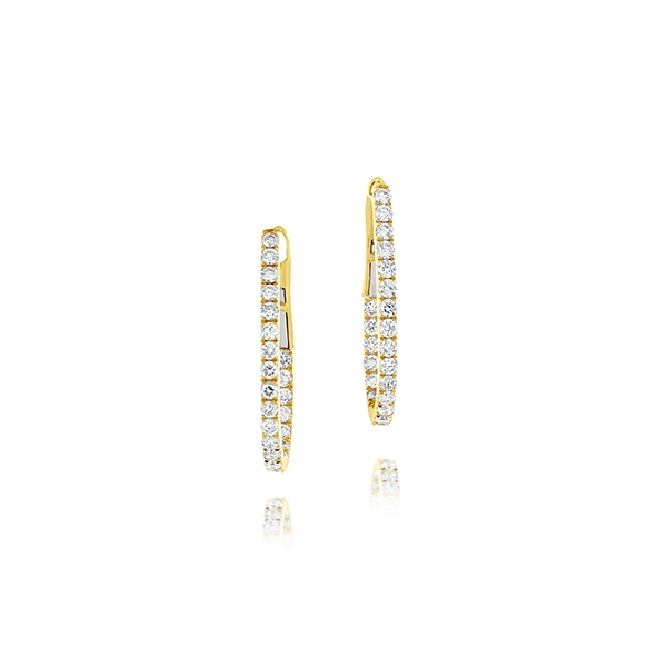 1.13 Carat Inside Out Diamond Hoops photo