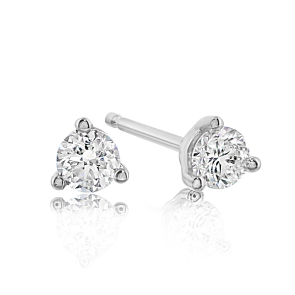 1/2 Carat Diamond Stud Earrings photo