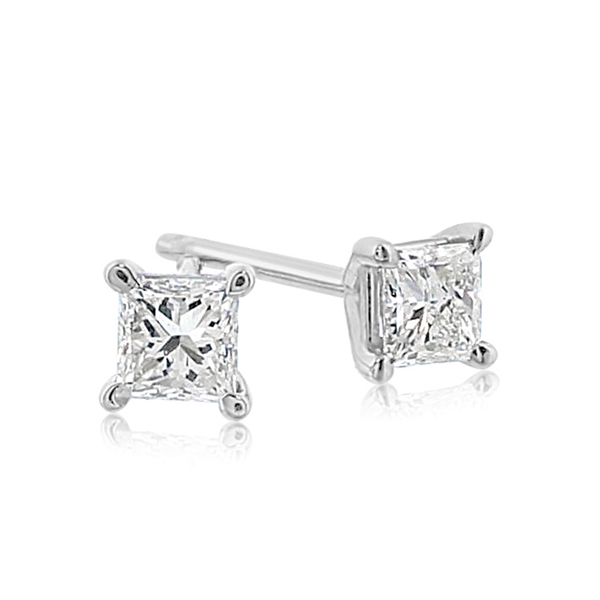 1 2 Carat Princess Cut Diamond Studs Reis Nichols Jewelers