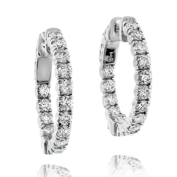 1.50 Carat Inside Out Diamond Hoops photo