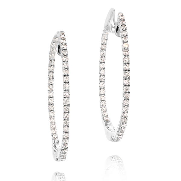 .50 Carat Inside Out Diamond Hoops photo