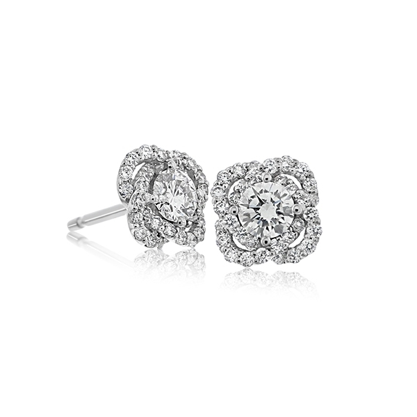 A. LINK & CO. Diamond Knot Earrings photo