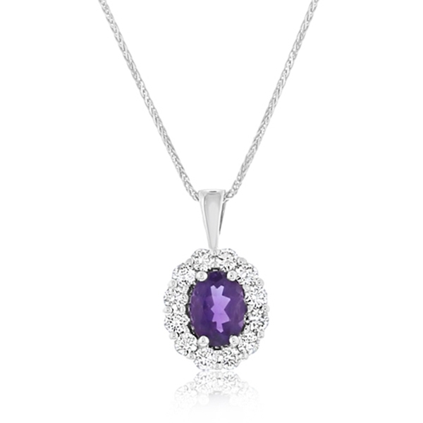 Amethyst & Diamond Pendant photo