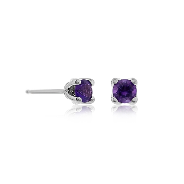 Amethyst Stud Earrings photo