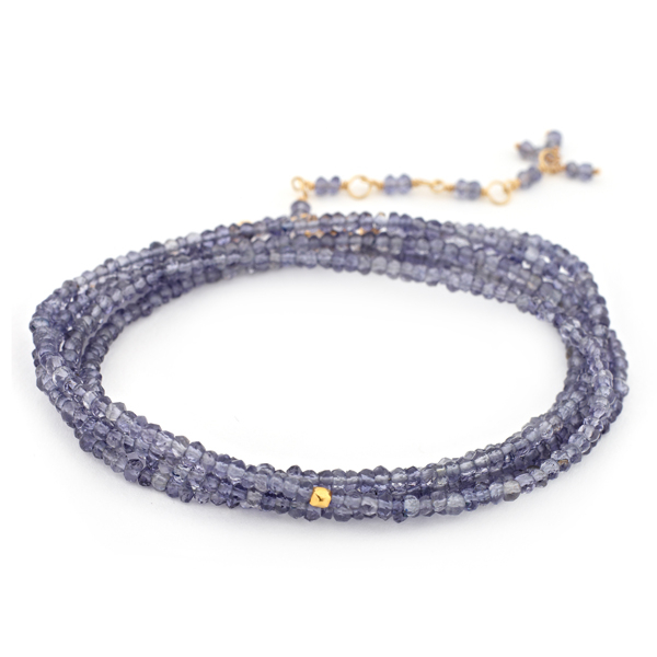 ANNE SPORTUN  Iolite Beaded Wrap Bracelet photo