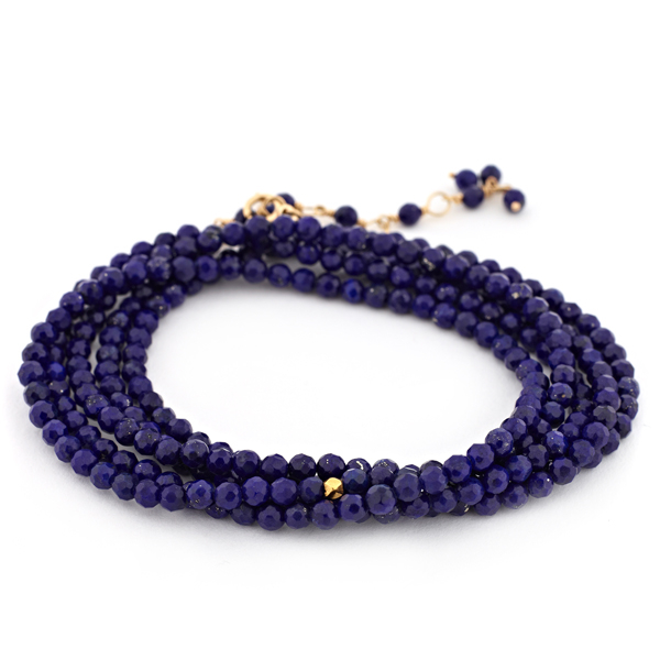 ANNE SPORTUN  Lapis Beaded Wrap Bracelet photo