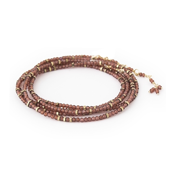 ANNE SPORTUN Confetti Garnet Wrap Bracelet photo